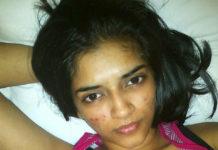 South Indian actress Vasundhara Kashyap's topless photos leaked