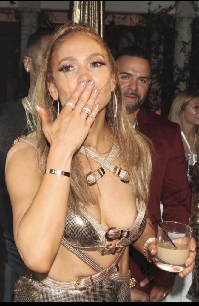 Jennifer Lopez Birthday Nip Slip